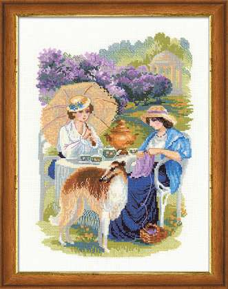 click here to view larger image of Lilac Blossoms - Russian Country Estate (counted cross stitch kit)