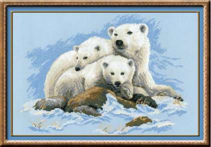 click here to view larger image of Polar Bears (counted cross stitch kit)