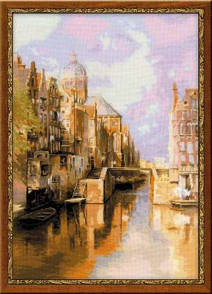 click here to view larger image of Amsterdam Channel (Klinkenberg) (counted cross stitch kit)