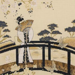 click here to view larger image of Kimono Serenity (counted cross stitch kit)