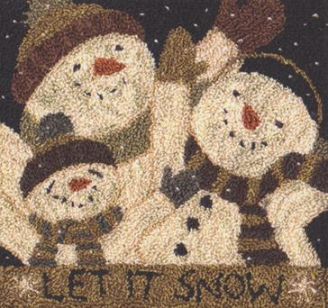 click here to view larger image of Let It Snow (Punchneedle)