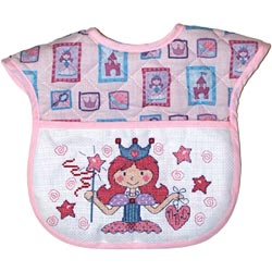click here to view larger image of Princess Quilted Baby Bib (stitchable)