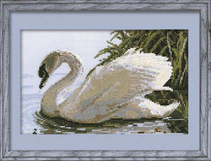 click here to view larger image of Female Swan (counted cross stitch kit)