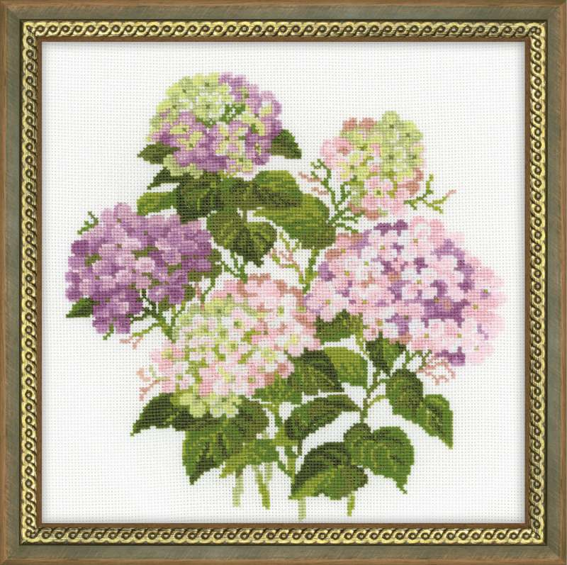 click here to view larger image of Garden Hydrangea (counted cross stitch kit)