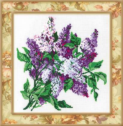 click here to view larger image of Lilac (counted cross stitch kit)
