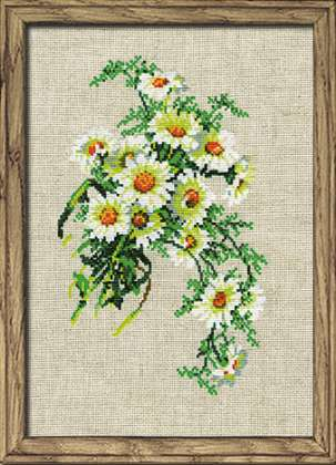click here to view larger image of Bouquet of Camomiles (counted cross stitch kit)