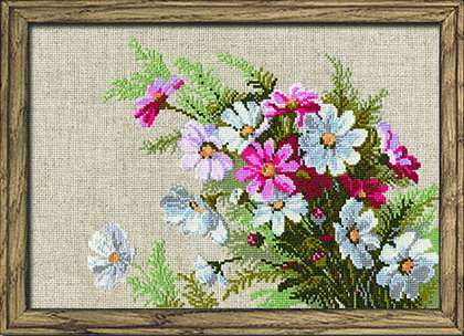 click here to view larger image of Cosmos (counted cross stitch kit)
