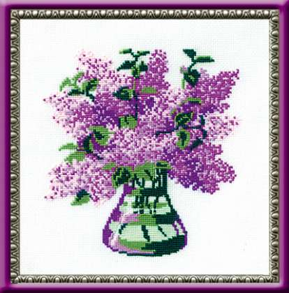 click here to view larger image of Bunch of Lilacs (counted cross stitch kit)
