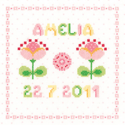 click here to view larger image of Girl Sampler - Pure and Simple (counted cross stitch kit)