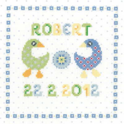 click here to view larger image of Boy Sampler (counted cross stitch kit)