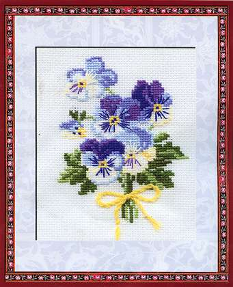 click here to view larger image of Violas (counted cross stitch kit)