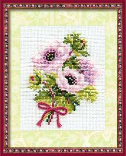 click here to view larger image of Anemones (counted cross stitch kit)