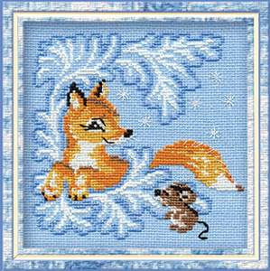 click here to view larger image of Fox Cub (counted cross stitch kit)