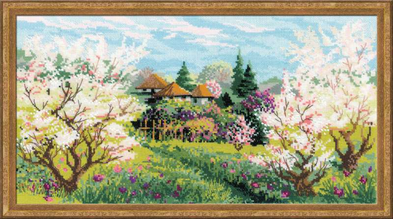 click here to view larger image of Apple Orchard (counted cross stitch kit)