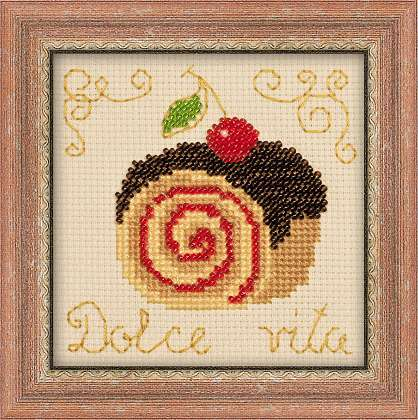 click here to view larger image of Cake Roll (counted cross stitch kit)