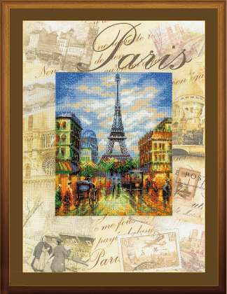 click here to view larger image of Cities of the World - Paris (counted cross stitch kit)