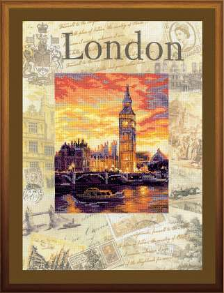 click here to view larger image of Cities of the World - London (counted cross stitch kit)