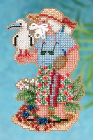 click here to view larger image of Christmas Island Santa (2012) (counted cross stitch kit)