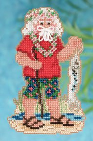 click here to view larger image of Tahiti Santa (2012) (counted cross stitch kit)