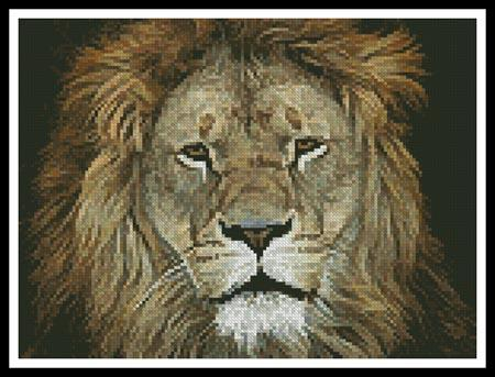 click here to view larger image of Lion Face 2 (chart)