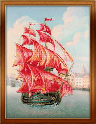 click here to view larger image of Red Sails (counted cross stitch kit)