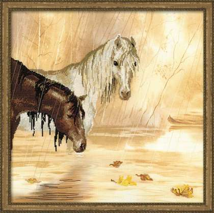 click here to view larger image of Idyll in the Rain (counted cross stitch kit)