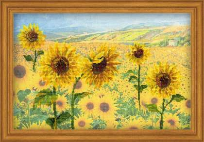 click here to view larger image of Field of Sunflowers (counted cross stitch kit)