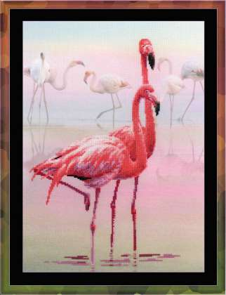 click here to view larger image of Flamingo (counted cross stitch kit)