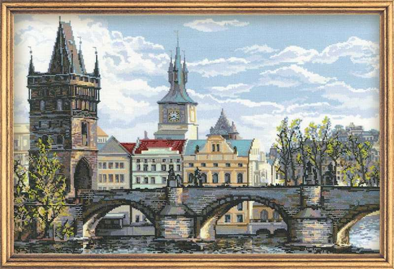 click here to view larger image of Charles Bridge - Prague (counted cross stitch kit)