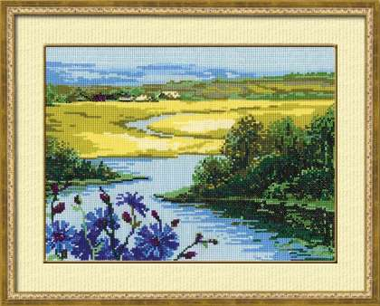 click here to view larger image of Country View (counted cross stitch kit)