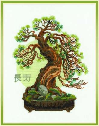 click here to view larger image of Bonsai Pine Wish of Longevity (counted cross stitch kit)