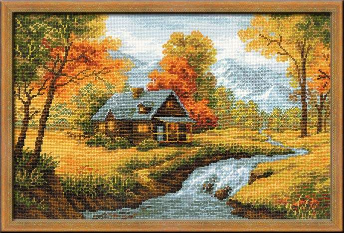 click here to view larger image of Autumn View (counted cross stitch kit)
