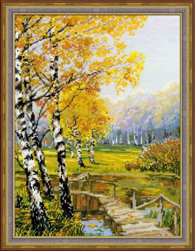 click here to view larger image of Birches, The (counted cross stitch kit)