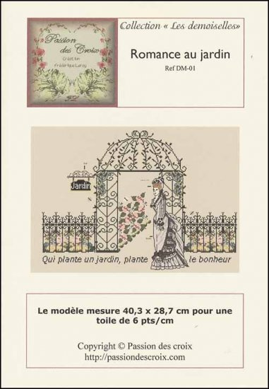 click here to view larger image of Romance Au Jardin (chart)