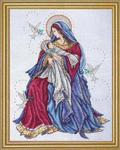 click here to view larger image of Madonna and Child (counted cross stitch kit)