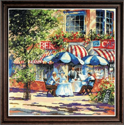 click here to view larger image of Cafe in the Sun (counted cross stitch kit)