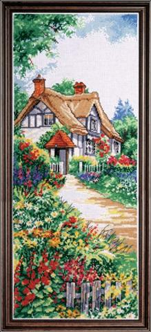click here to view larger image of Thatched Cottage (counted cross stitch kit)