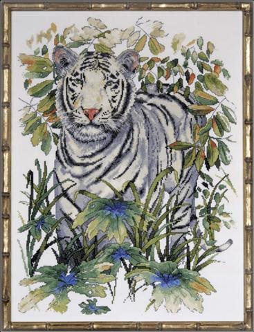 click here to view larger image of White Tiger (counted cross stitch kit)