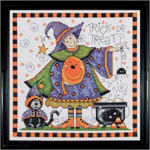 click here to view larger image of Trick or Treat (counted cross stitch kit)