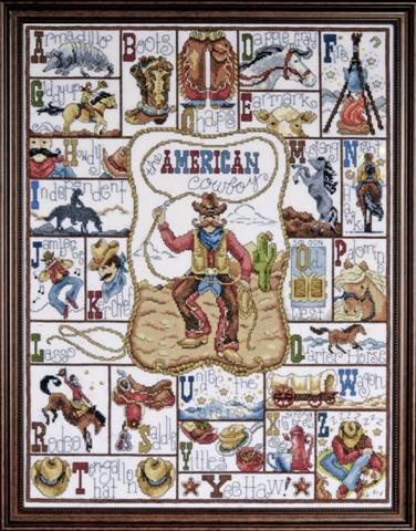 click here to view larger image of Cowboy ABC (counted cross stitch kit)