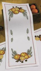 click here to view larger image of Scent of Oranges Tablerunner (counted cross stitch kit)