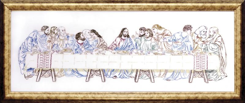 click here to view larger image of Last Supper (stamped cross stitch kit)