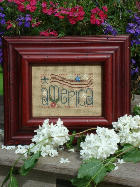 click here to view larger image of America (counted cross stitch kit)