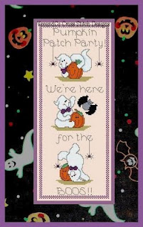 click here to view larger image of Pumpkin Patch Party Door Banner (chart)