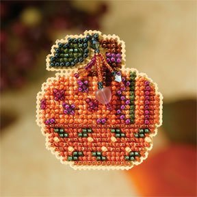 click here to view larger image of Jeweled Pumpkin (2007) (counted cross stitch kit)