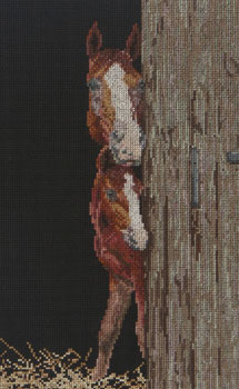 click here to view larger image of Horse and Foal (counted cross stitch kit)