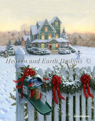 click here to view larger image of Christmas Mailbox (Mini) (chart)