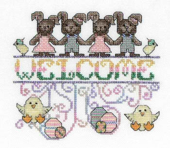 click here to view larger image of Easter Welcome (Funny Bunnies) (chart)