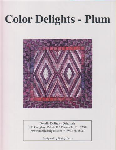 click here to view larger image of Color Delights - Plum (counted canvas chart)
