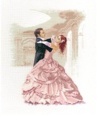click here to view larger image of Waltz - Dancers (kit) (counted cross stitch kit)